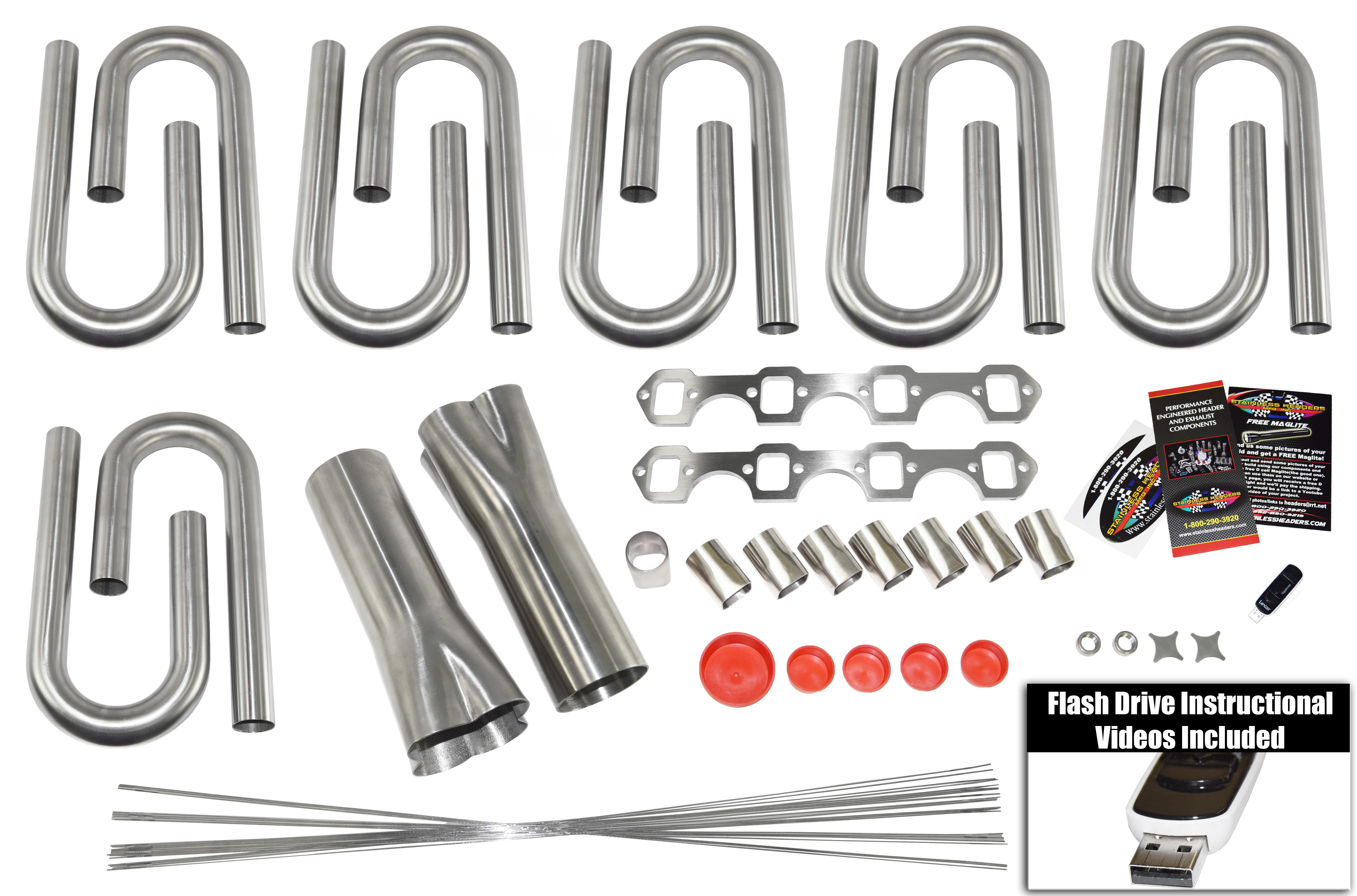 """304 Stainless Header Flanges For a Ford Small Block 302//351W with 1 1//2/"""" Stubs"""